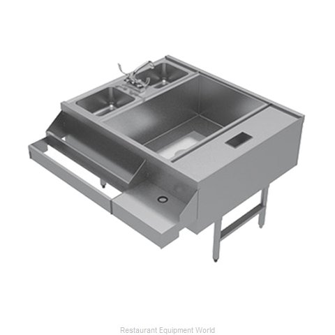 Advance Tabco CR-42X36-7-R Underbar Ice Bin/Cocktail Station, Pass-Thru Combo (Magnified)