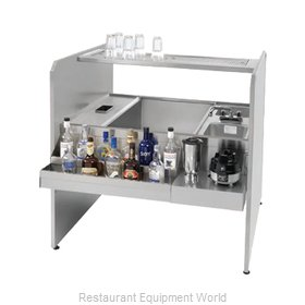 Advance Tabco CR-44X36SP-7-L Underbar Ice Bin/Cocktail Station, Pass-Thru Combo