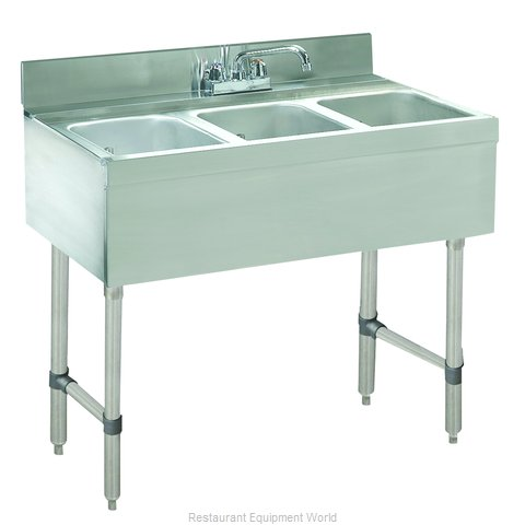 Advance Tabco CRB-33C Underbar Sink Units (Magnified)