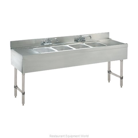 Advance Tabco CRB-64C-X Underbar Sink Units (Magnified)