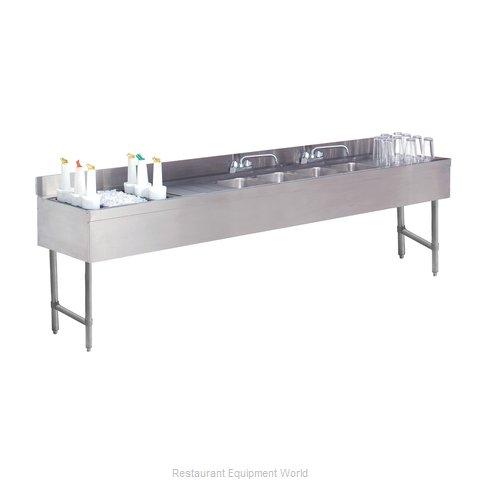 Advance Tabco CRC-84C-L Underbar Ice Bin/Cocktail Station, Sink Combo