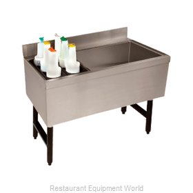 Advance Tabco CRCI-48LR Underbar Ice Bin/Cocktail Station, Bottle Well Bin