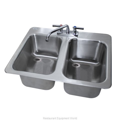 Advance Tabco DBS-2 Underbar Sink, Drop-In (Magnified)