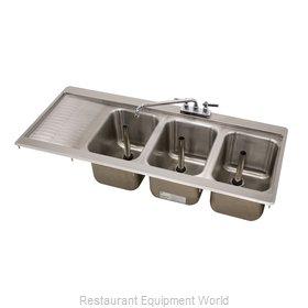 Advance Tabco DBS-43R Underbar Sink, Drop-In
