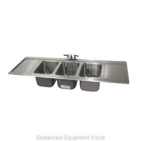 Advance Tabco DBS-53C-X Underbar Sink, Drop-In