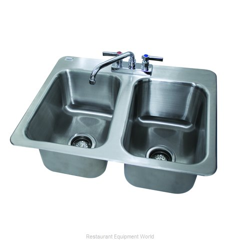 Advance Tabco DI-2-10-2X Sink Drop-In (Magnified)