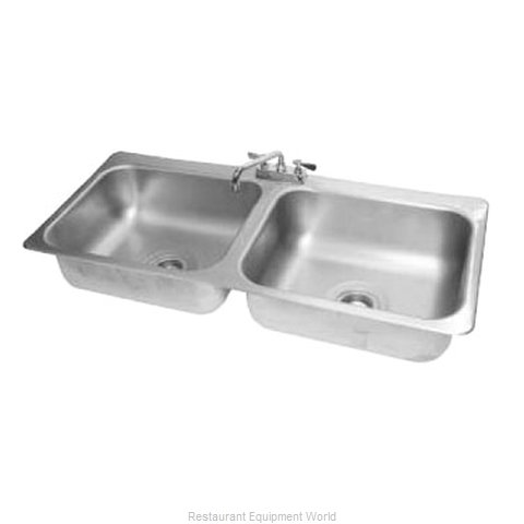Advance Tabco DI-2-208 Sink, Drop-In (Magnified)