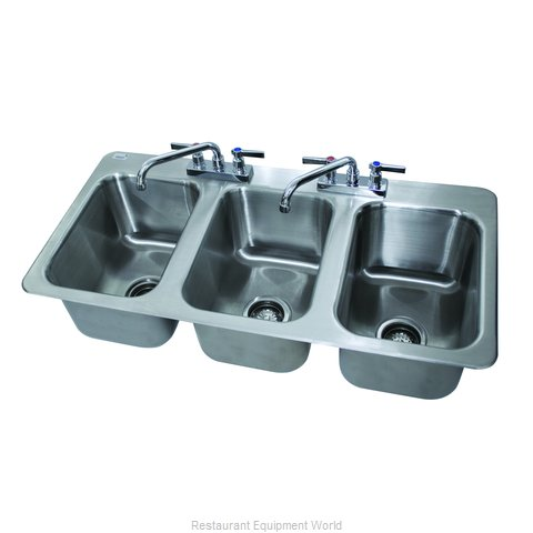 Advance Tabco DI-3-10-1X Sink, Drop-In (Magnified)