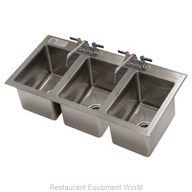 Advance Tabco DI-3-10-EC-X Sink, Drop-In