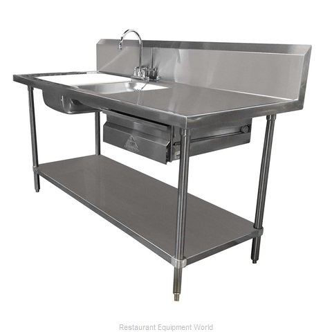 Advance Tabco DL-30-72 Work Table 72 Long with Prep Sink