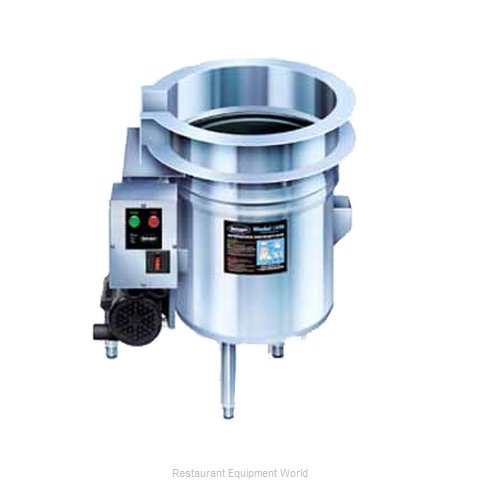 Advance Tabco DTA-96 Installation Trough Collector (Magnified)