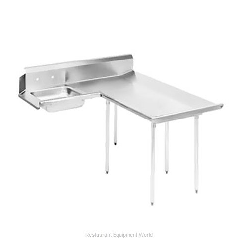 Advance Tabco DTS-D60-72R Dishtable, Soiled (Magnified)