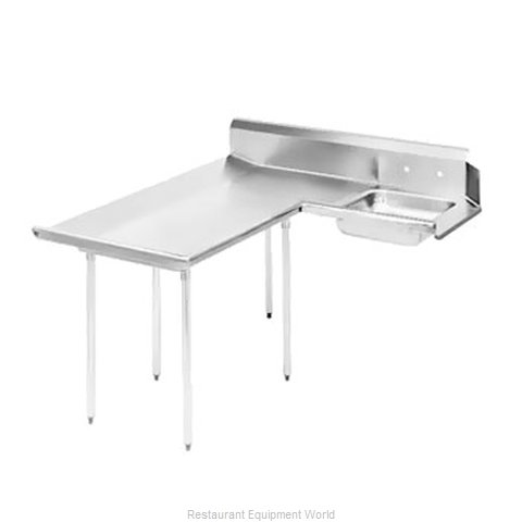 Advance Tabco DTS-D60-96L Dishtable, Soiled (Magnified)