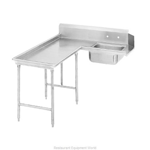 Advance Tabco DTS-G30-144L Dishtable, Soiled (Magnified)