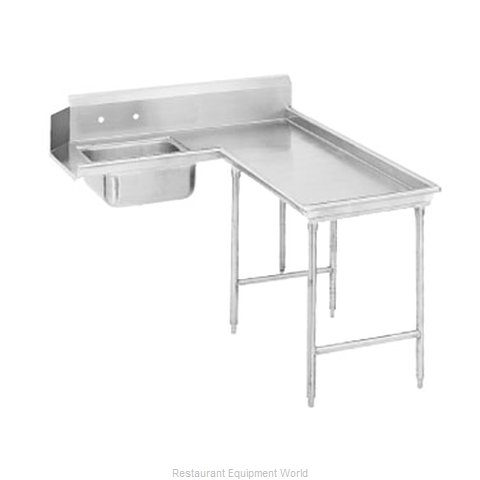Advance Tabco DTS-G30-96R Dishtable, Soiled (Magnified)
