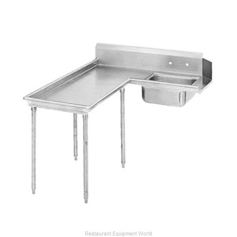 Advance Tabco DTS-G60-48L Dishtable, Soiled (Magnified)