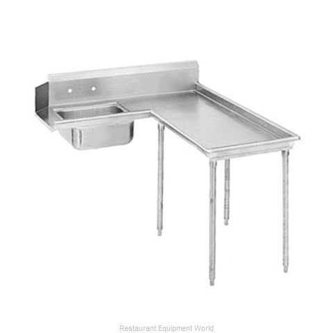 Advance Tabco DTS-G60-48R Dishtable, Soiled (Magnified)