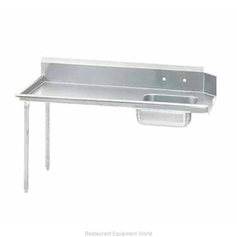 Advance Tabco DTS-S60-120L Stainless Steel Straight Dish Table