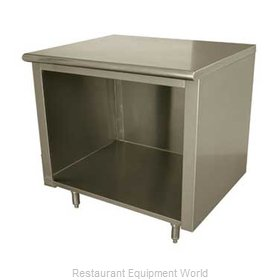 Advance Tabco EB-SS-248 Work Table, Cabinet Base Open Front