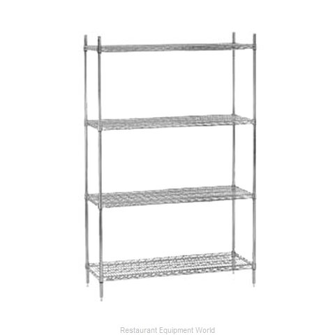 Advance Tabco ECC-1848-X Shelving Unit Wire (Magnified)