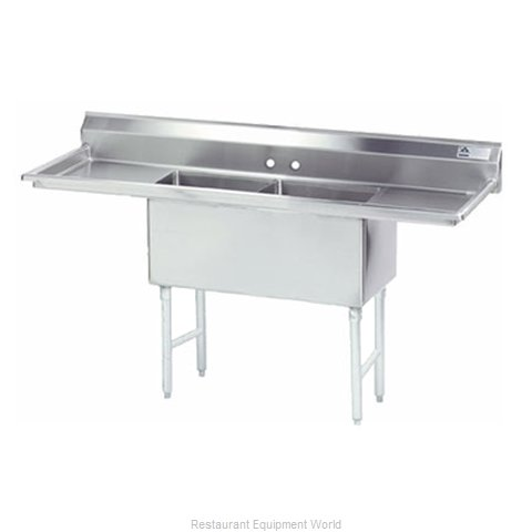 Advance Tabco FC-2-1818-24RL-X Sink 2 Two Compartment