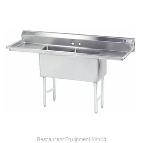 Advance Tabco FC-2-2424-24RL Sink 2 Two Compartment