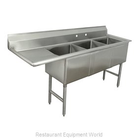 Advance Tabco FC-3-1818-24L Sink, (3) Three Compartment