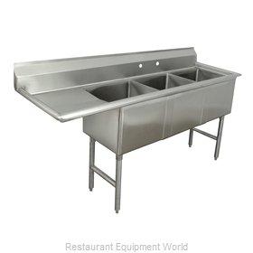 Advance Tabco FC-3-1818-24L Sink, (3) Three Compartment