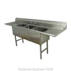 Advance Tabco FC-3-2030-24RL Sink, (3) Three Compartment