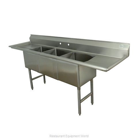 Advance Tabco FC-3-2424-18RL-X Sink, (3) Three Compartment (Magnified)
