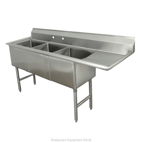 Advance Tabco FC-3-2424-24R-X Sink, (3) Three Compartment (Magnified)