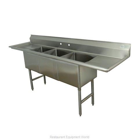 Advance Tabco FC-3-2424-24RL-X Sink, (3) Three Compartment