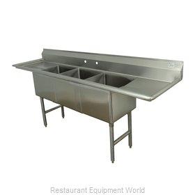 Advance Tabco FC-3-2424-24RL Sink, (3) Three Compartment