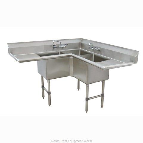 Advance Tabco FC-K6-18D-X Sink, (3) Three Compartment