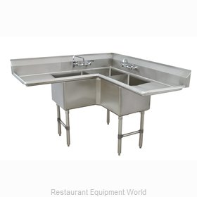 Advance Tabco FC-K6-18D-X Sink, (3) Three Compartment