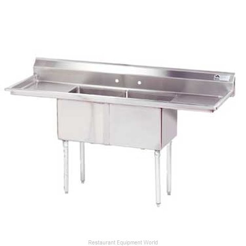 Advance Tabco FE-2-1812-18RL-X Sink, (2) Two Compartment