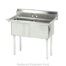 Advance Tabco FE-2-1812-X Sink 2 Two Compartment