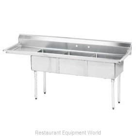 Advance Tabco FE-3-1812-18L-X Sink 3 Three Compartment