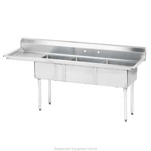 Advance Tabco FE-3-1824-24L-X Sink 3 Three Compartment