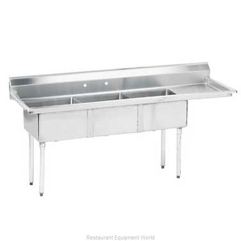 Advance Tabco FE-3-1824-24R-X Sink 3 Three Compartment