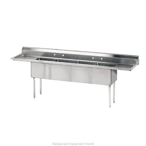 Advance Tabco FE-4-1812-18RL-X Sink, (4) Four Compartment
