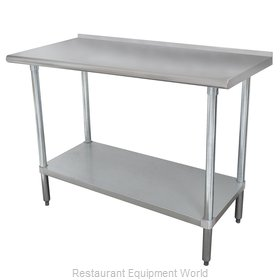 Advance Tabco FMG-244 Work Table 48 Long Stainless steel Top