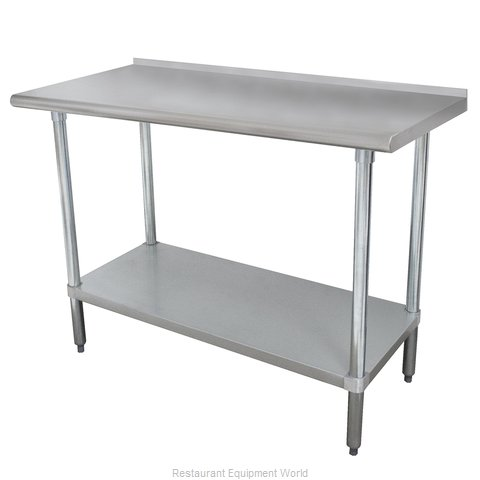 Advance Tabco FMG-306 Work Table 72 Long Stainless steel Top