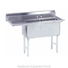 Advance Tabco FS-2-1824-24L Sink 2 Two Compartment