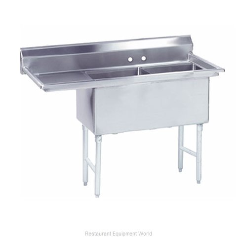 Advance Tabco FS-2-2424-24L Sink 2 Two Compartment