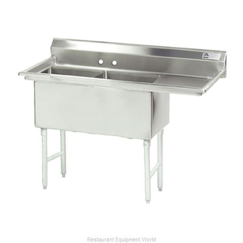 Advance Tabco FS-2-2424-24R Sink 2 Two Compartment