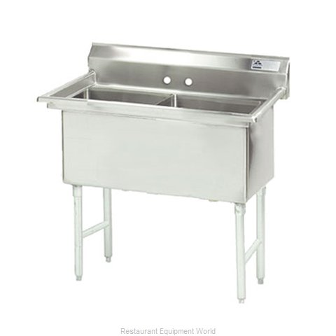 Advance Tabco FS-2-2424 Sink 2 Two Compartment