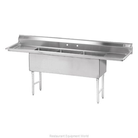 Advance Tabco FS-3-1624-12RL Sink 3 Three Compartment