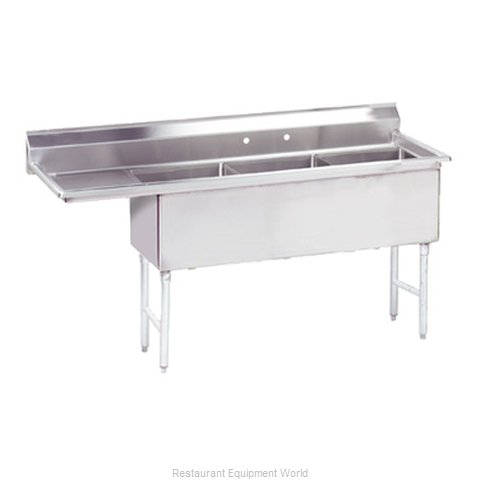 Advance Tabco FS-3-1824-24L Sink 3 Three Compartment