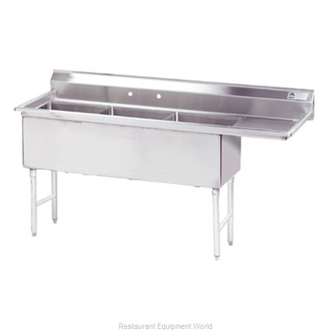 Advance Tabco FS-3-2424-24R Sink, (3) Three Compartment (Magnified)